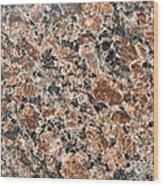 Brown Red Granite  Wood Print