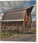 Brown Roof Barn Wood Print