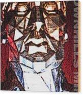 Brownhills Miner Face Wood Print