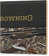 Browning Bps Shotgun  Wood Print