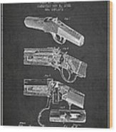 Browning Rifle Patent Drawing From 1921 - Dark Wood Print