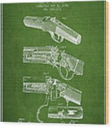 Browning Rifle Patent Drawing From 1921 - Green Wood Print