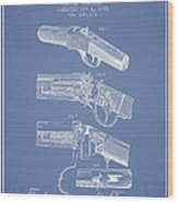Browning Rifle Patent Drawing From 1921 - Light Blue Wood Print