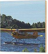 Brown's Piper Cub 005  Wood Print