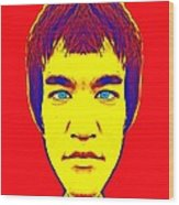 Bruce Lee Alias Wood Print