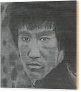 Bruce Lee Wood Print by Terence Leano