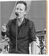 Bruce Springsteen 13 Wood Print