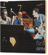 Bruce Springsteen Billy Joel And Paul Schaffer Wood Print