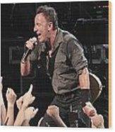 Musician Bruce Springsteen Wood Print