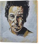 Bruce Springsteen Wood Print by Jeremy Moore