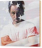 Bruce Springsteen Portrait Wood Print