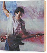 Bruce Springsteen The Boss Wood Print