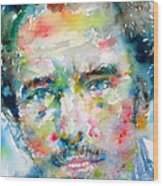 Bruce Springsteen Watercolor Portrait.1 Wood Print by Fabrizio Cassetta