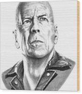 Bruce Willis Wood Print
