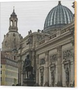 Bruehlsche Terrace - Church Of Our Lady - Dresden - Germany Wood Print