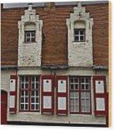 Bruges Houses Wood Print