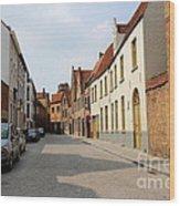 Bruges Side Street Wood Print by Carol Groenen