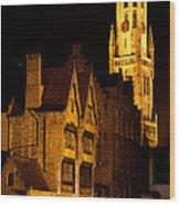 Brugge Architecture Wood Print