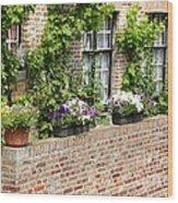 Brugge Balcony Wood Print by Carol Groenen