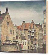 Brugge Wood Print