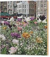 Brugge In Spring Wood Print
