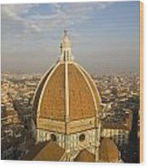 Brunelleschi's Dome At The Basilica Di Santa Maria Del Fiore Wood Print