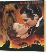 Brussels Griffon Art - Gone With The Wind Movie Poster Wood Print