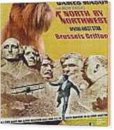 Brussels Griffon Art - North By Northwest Movie Poster Wood Print