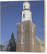 Bruton Parish Church In Colonial Williamsburg Wood Print