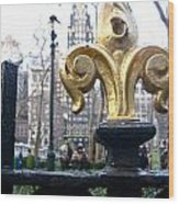 Bryant Park Wood Print by Amy  Renne