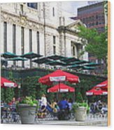 Bryant Park At Noon Wood Print by Dora Sofia Caputo Photographic Art and Design
