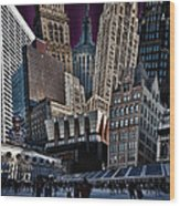 Bryant Park Collage Wood Print