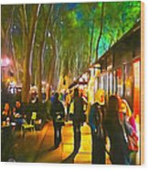 Bryant Park Evening Wood Print by Richard Trahan