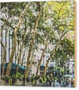 Bryant Park Midtown New York Usa Wood Print