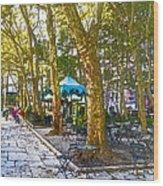 Bryant Park October Wood Print by Liz Leyden