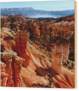 Bryce Canyon Cliff Wood Print