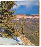Bryce Canyon Cliff Shot 4 Wood Print