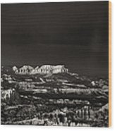 Bryce Canyon Formations In Black And White Wood Print