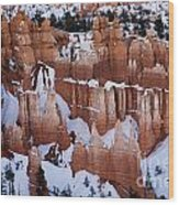 Bryce Canyon In Winter 2 Wood Print