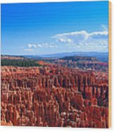 Bryce Canyon Vista Wood Print