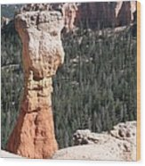 Interesting Bryce Canyon Rockformation Wood Print