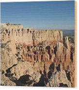 Bryce Canyon Scenic View Wood Print