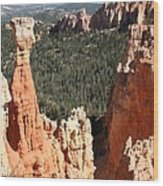 Bryce Canyon - Thors Hammer Wood Print
