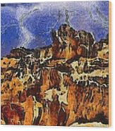 Bryce Canyon Thuderstorm Wood Print