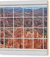 Bryce Canyon White Picture Window View Wood Print