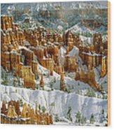 Bryce Winter Morning Wood Print
