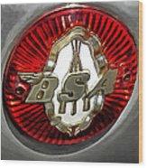 Bsa Badge Wood Print