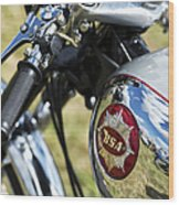 Bsa Rocket Gold Star Motorcycle Wood Print