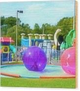 Bubble Ball 4   Wood Print