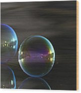 Bubble Bubble On The Water Wood Print
